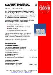Clarimat Universal - ADEFO-CHEMIE GmbH
