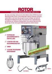 maschine und werkzeuge aus rostfreiem edelstahl - Rotor Lips AG