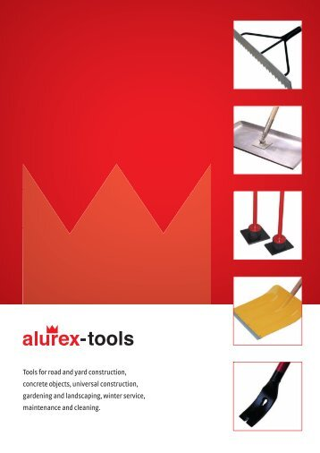 Tools for road and yard construction, concrete objects, universal ...
