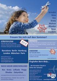 Freuen Sie sich auf den Sommer 2011 - Bern-Belp