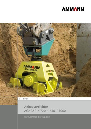 Anbauverdichter / Plattenverdichter - Ammann