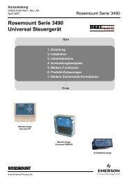 Rosemount Serie 3490 Universal Steuergerät - Emerson Process ...