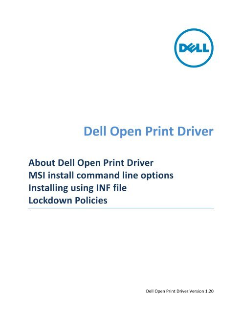 How to load and unload 'Dell Open Print Driver' - Dell Support