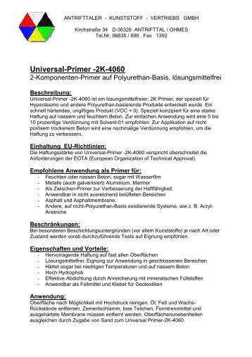 Universal-Primer -2K-4060 - Antrifttaler Kunststoff Vertriebs GmbH
