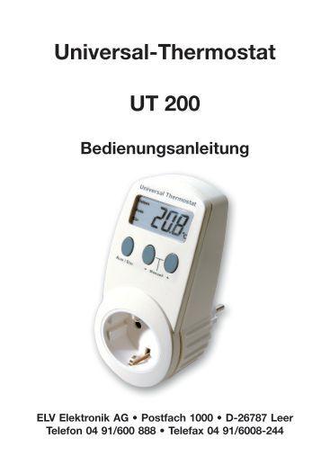 funk universal thermostat sender fs20 uts. Black Bedroom Furniture Sets. Home Design Ideas