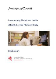 Luxembourg Ministry of Health eHealth Service Platform Study - Santé