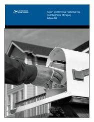 Report On Universal Postal Service and The Postal ... - USPS.com