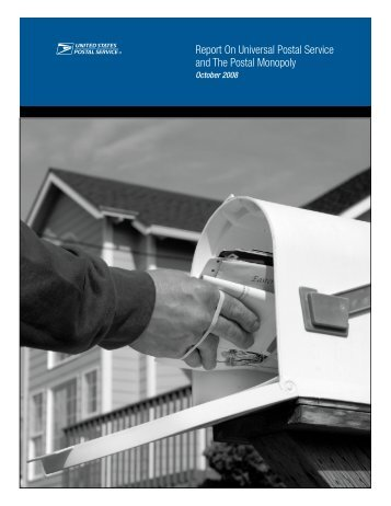 Report On Universal Postal Service and The Postal ... - USPS.com