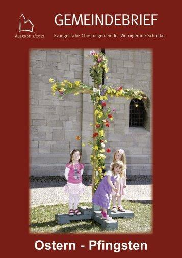 Gemeindebrief 02/12 - Evangelische Christusgemeinde ...