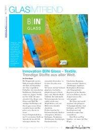 IN Glass - Textile. Trendige Stoffe aus aller Welt. - Glas Berger GmbH