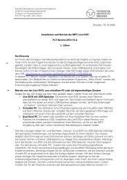 Installationsanleitung MRT Live DVD - Fakultät Elektrotechnik und ...