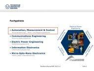 ppt-Präsentation zur Studienrichtung - Fakultät Elektrotechnik und ...