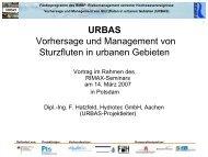 URBAS Vorhersage und Management von Sturzfluten in ... - RIMAX