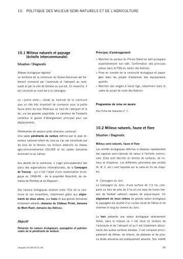 10. POLITIQUE DES MILIEUX SEMI-NATURELS ... - Etat de Genève