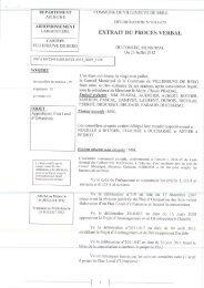 Délibération approbation PLU - Villeneuve de Berg