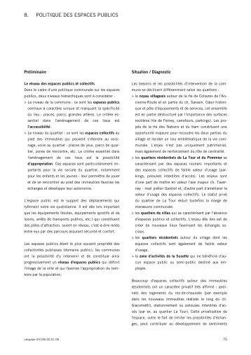 8. POLITIQUE DES ESPACES PUBLICS - Etat de Genève