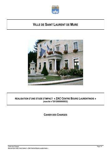 cahier des charges - Ville de Saint Laurent de Mure