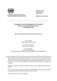 Proposals for the design of SRC support - Unido