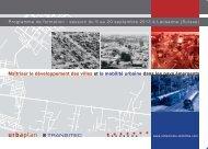 Maîtriser le développement des villes et la mobilité urbaine dans les ...