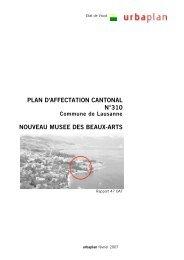 plan d'affectation cantonal n°310 nouveau musee des beaux-arts