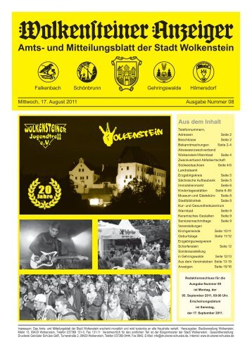 Amts- und Mitteilungsblatt der Stadt Wolkenstein Amts- und ...