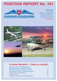 POSITION REPORT No. 191 - AOPA Switzerland