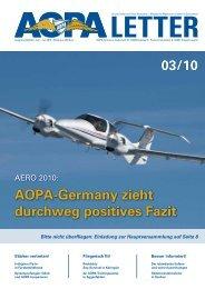 Einladung zur Hauptversammlung 2010 - AOPA - Germany