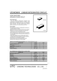 UTC MC34018 LINEAR INTEGRATED CIRCUIT