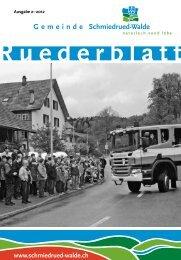 Ruederblatt – 2. Ausgabe 2012 im Juni - Gemeinde Schmiedrued ...