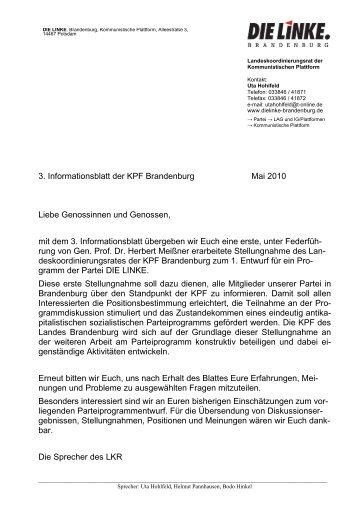 Zum Gesamtpapier - Die Linke. Brandenburg