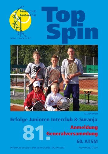 Top Spin - Tennisclub Teufenthal