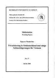 Privatisierung in Ostdeutschland und einige - Humboldt-Universität ...