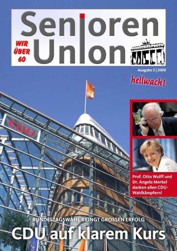 Titelthema: Bundestagswahl - Seniorenunion Berlin