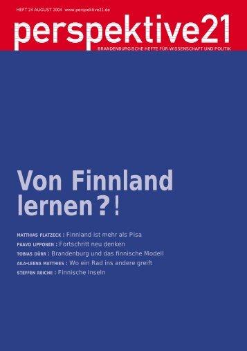 Von Finnland lernen?! Nach - Perspektive 21