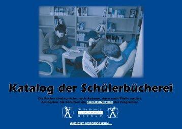 Katalog der Schülerbücherei - Willy-Brandt-Gesamtschule