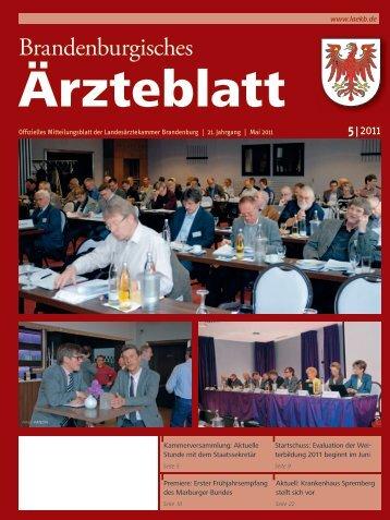 Ausgabe 05/2011 - Landesärztekammer Brandenburg