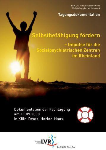 Dokumentation der Fachtagung am 11.09.2008 in Köln-Deutz ...