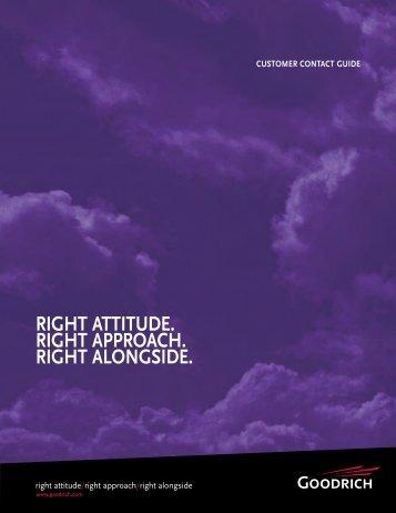 right attitude. right approach. right alongside. - Goodrich