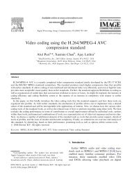 Video coding using the H.264/MPEG-4 AVC compression standard