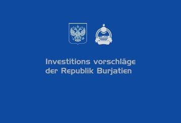 Investitions vorschläge der Republik Burjatien