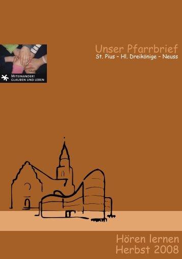 Unser Pfarrbrief Hören lernen Herbst 2008 - Kath. Pfarrgemeinde Hl ...