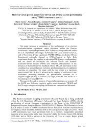 Electron Versus Proton Accelerator Driven Sub-Critical System ...