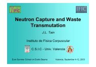 Neutron Capture and Waste Transmutation - IFIC
