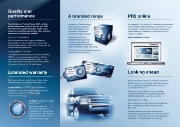 Looking ahead A branded range PR2 online Quality ... - Allmakes 4x4