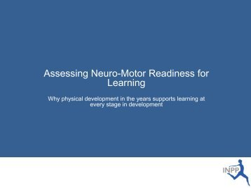 Assessing Neuro-Motor Readiness for Learning - Physical Literacy