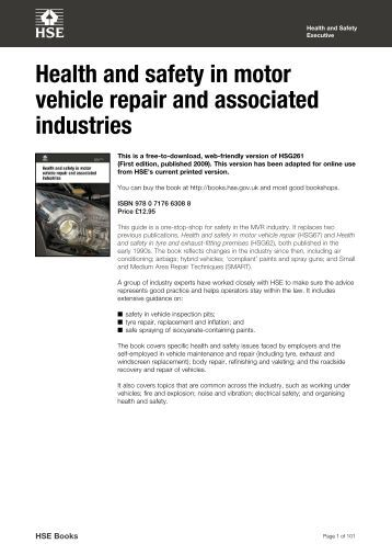 Motor vehicle repair example document forktruck Motor vehicle safety