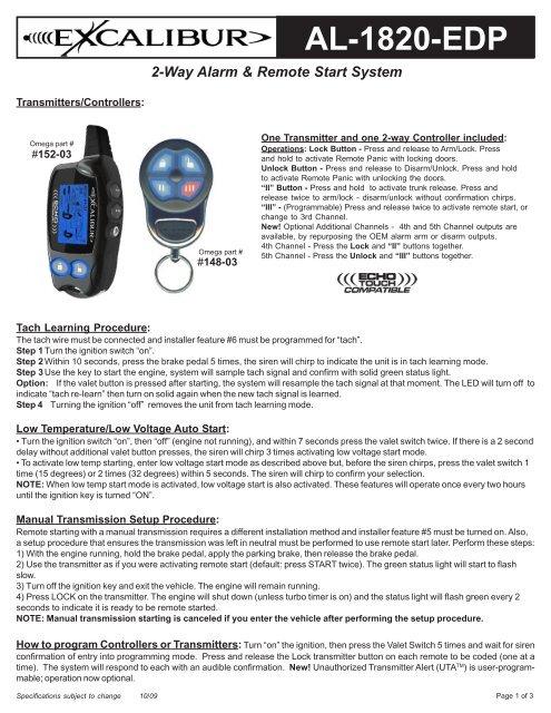 remote start standard transmission