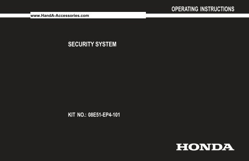 Security System - H and A Accessories