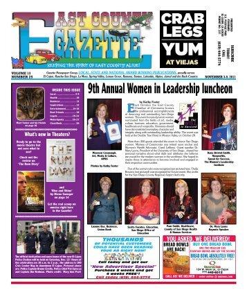 November 3 - East County Gazette