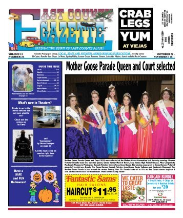 Mother Goose Parade Queen and Court selected - East County ...